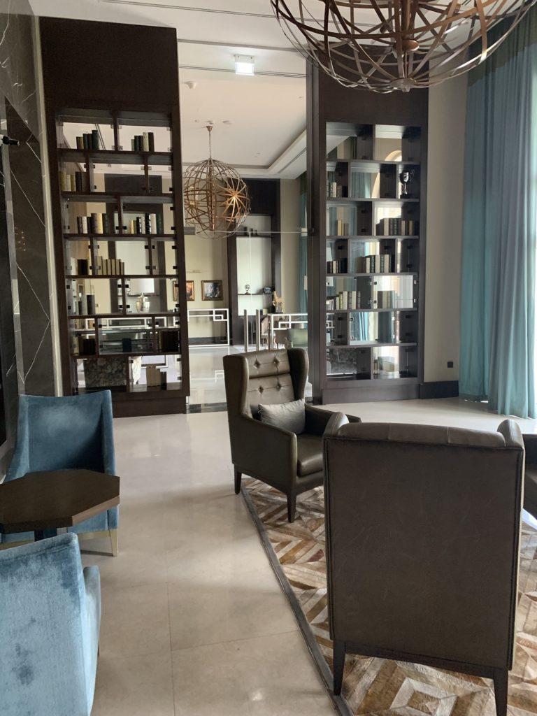 Interior photo of a seating area at The Royal Villas at Al Habtoor Polo Resort
